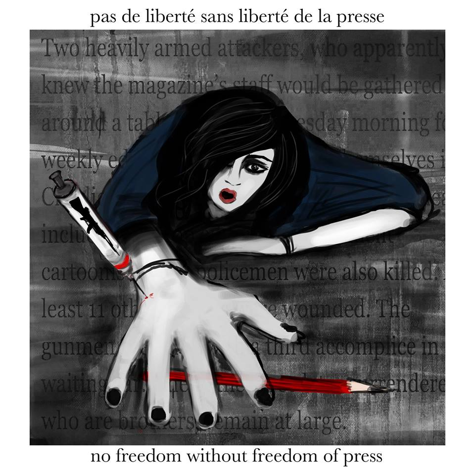 """""""No freedom without freedom of press"""", meaningful words illustrated by super talented Veer Misra"""