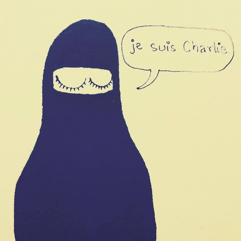Tanya Singh's doodle for #Jesuischarlie is minimalist yet so so powerful!