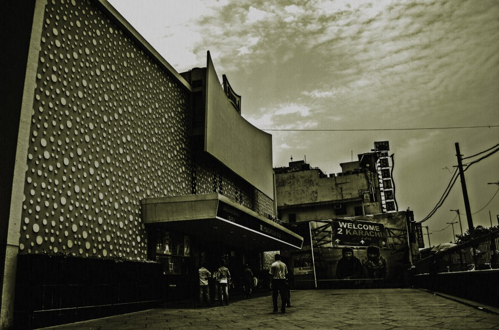 An Exterior Shot Of The Shiela Single-Screen Cinema In New Delhi