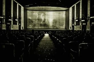 An Interior Shot Of The Ritz Single-Screen Cinema In New Delhi