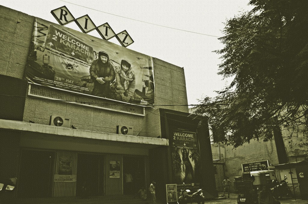An Exterior Shot Of The Ritz Single-Screen Cinema In New Delhi