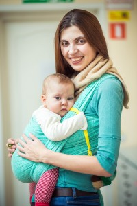 Olena with her daughter