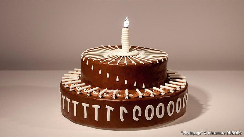 Alexandre Dubosc zoetrope cake