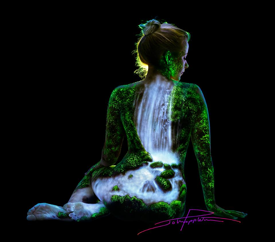 Black Light Bodyscapes John Poppleton