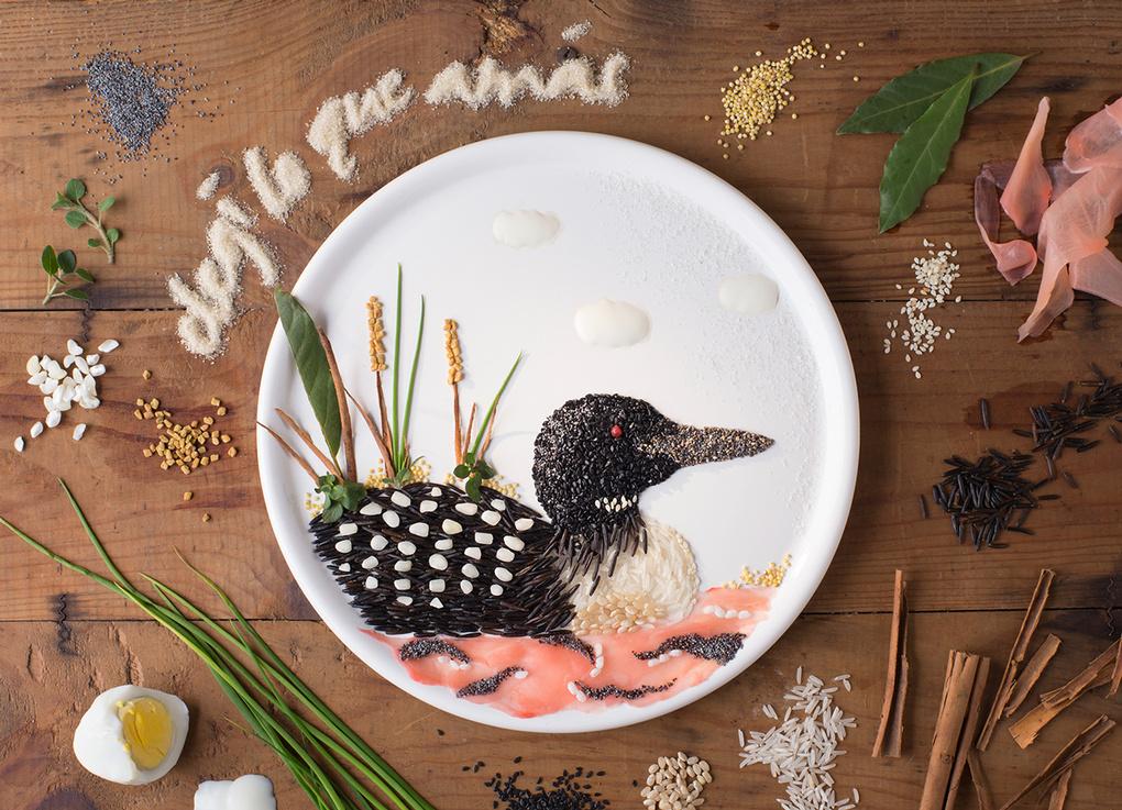 Food art by Anna Joyce