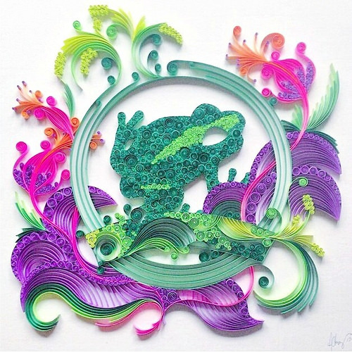 Ashley Chiang - Quilled Frog