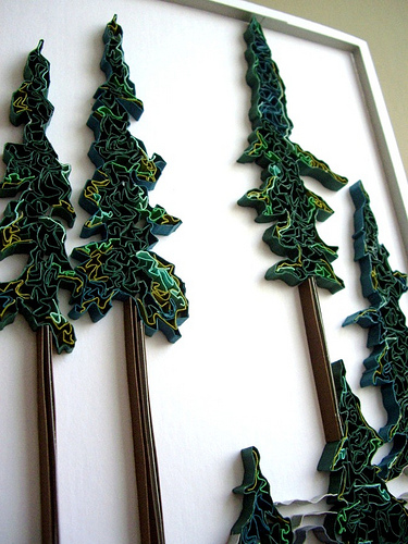Michelle Jamieson - Quilled Trees