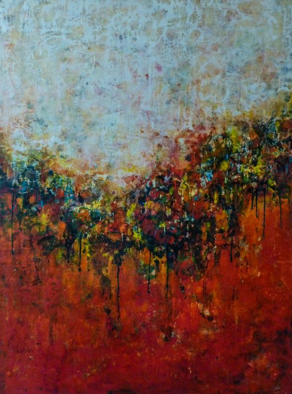 Ezshwan Winding - Encaustic Painting