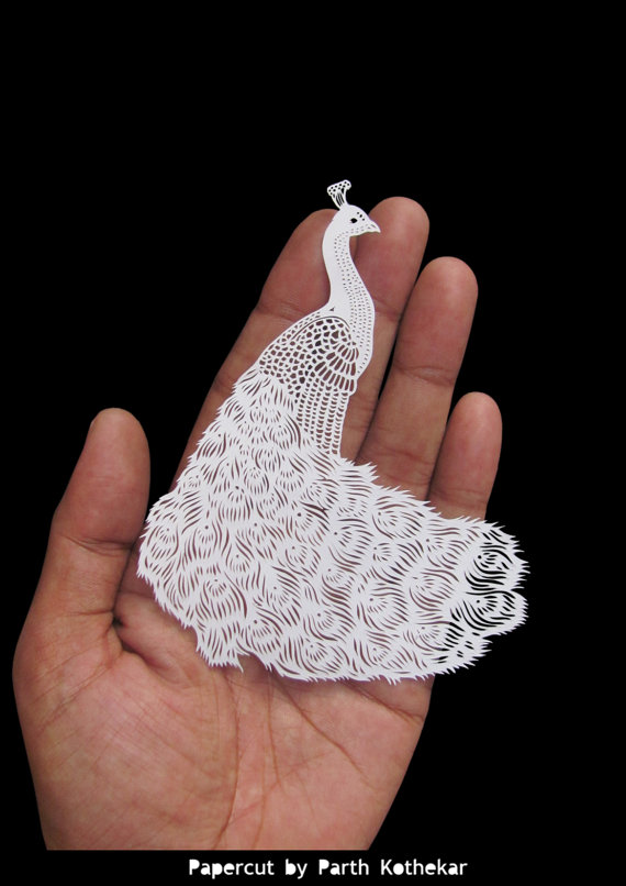 Parth Kothekar - Papercut Peacock