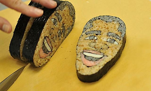 sushi art obama tama-chan