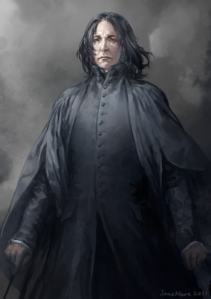 Another fantastic portrayal of Alan Rickman as one of his most famous characters, Severus Snape by artist Jane Mere.