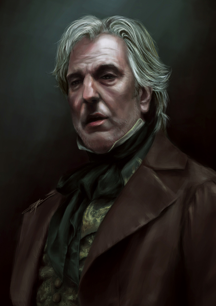 Sir Rickman as Judge Turpin from Sweeney Todd created by Lance Murdoch.