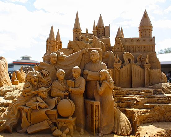 Harry Potter Sand Sculpture