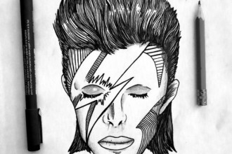 Art tributes David Bowie