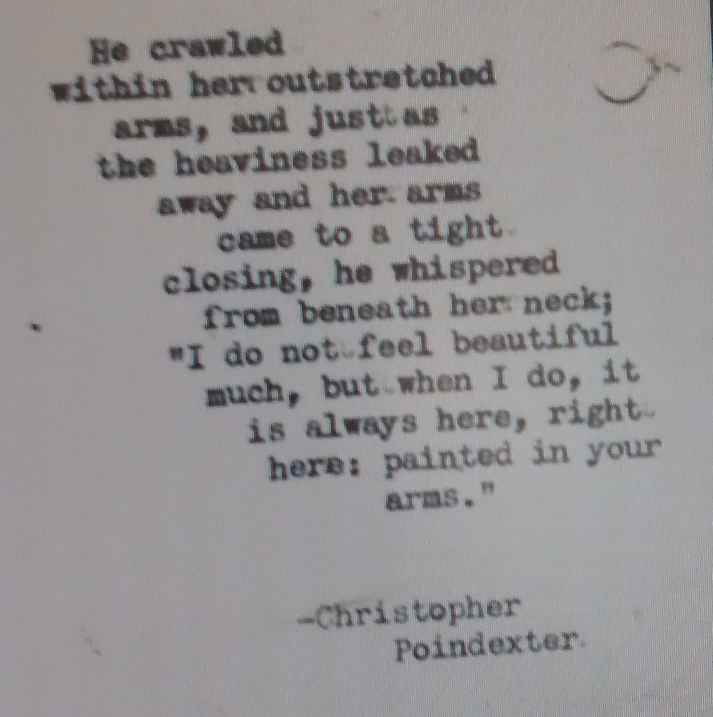 poindexter allusions Christopher
