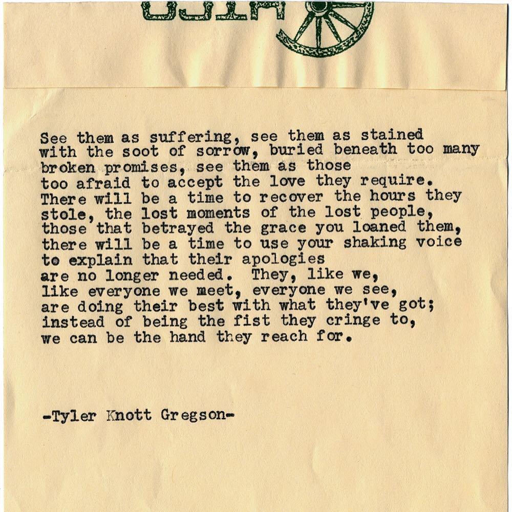 Typewriter Series- T.K.Gregson