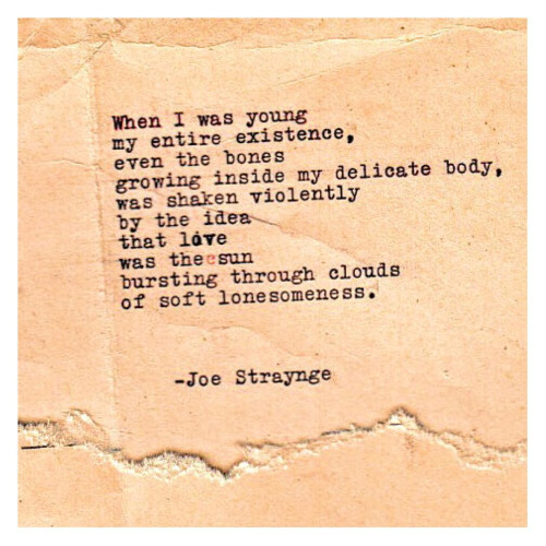 joe straynge poem