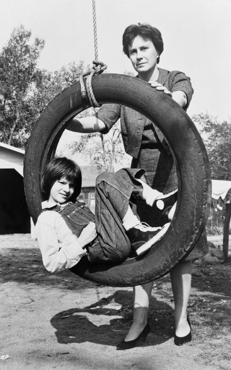 Harper Lee with Mary Badham, the actress from the 1962 film adaptation