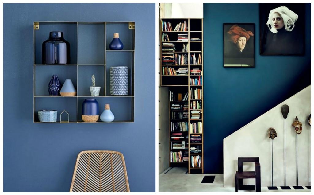 Pantone riverside blue walls, rooms, decor