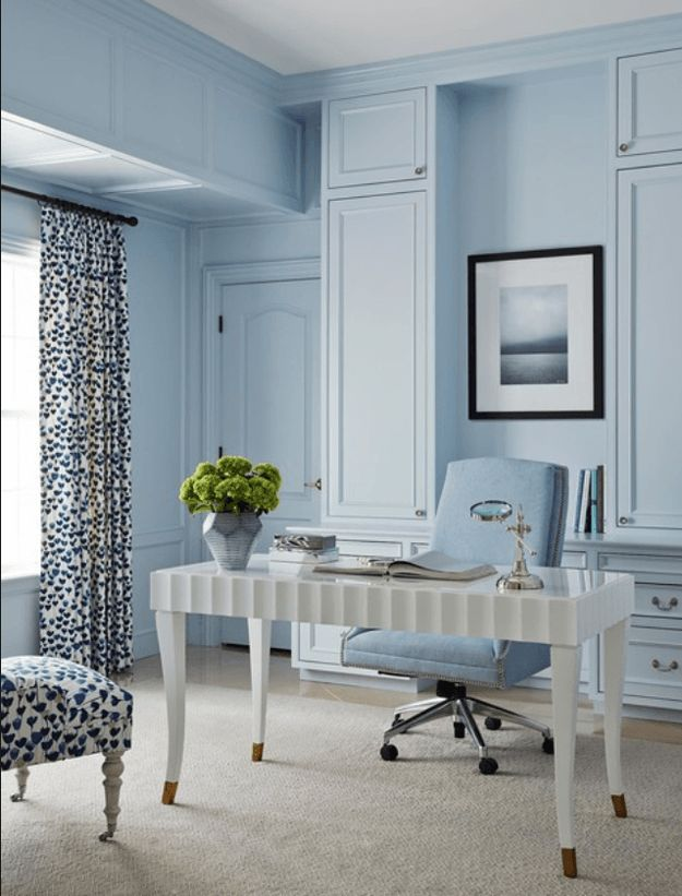 Pantone airy blue workspace