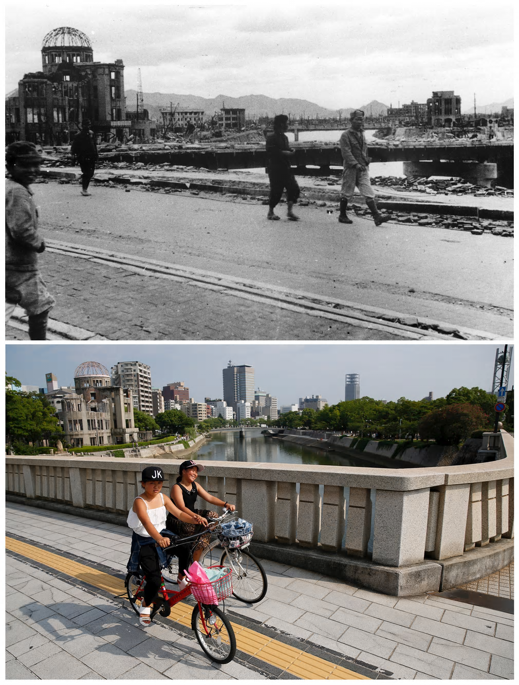 Hiroshima, then and now.
