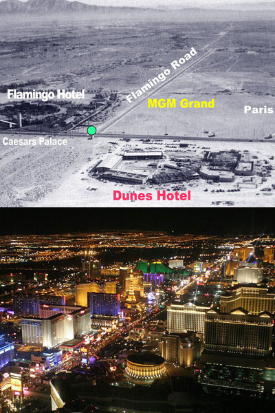 Las Vegas, then and now.