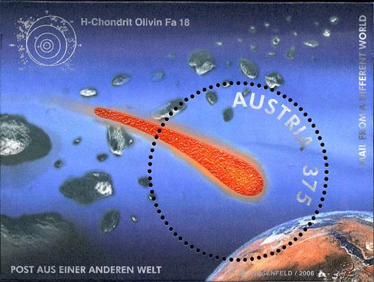 Austrian Meteorite Stamp