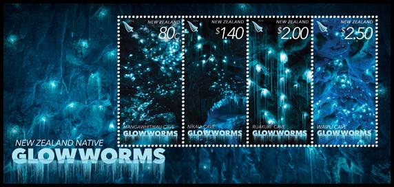 New Zealand Glow worm Stamps