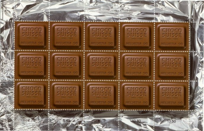 Swiss Chocolate Stamps