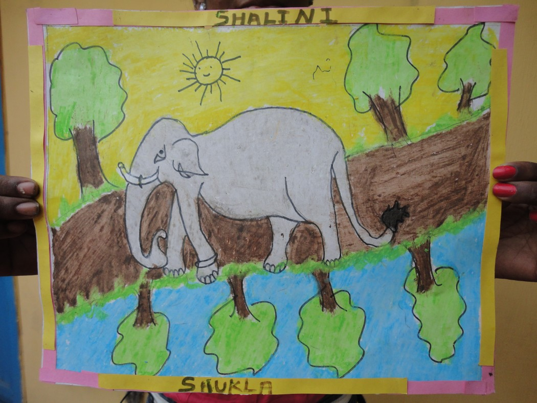 Closer look at Shalini's masterpiece.
