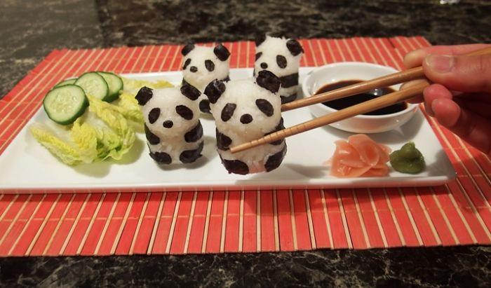 sushi art panda bento