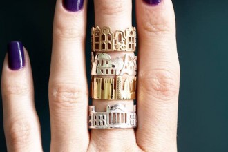Ola Shekhtman Cityscapes Rings