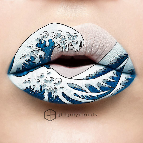 lip art Andrea Reed