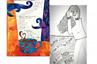 Illustrated Poetry collage