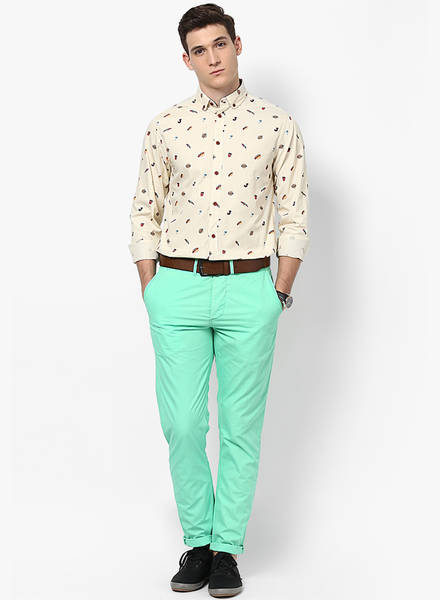 pastle-green-pant-with-printed-shirt