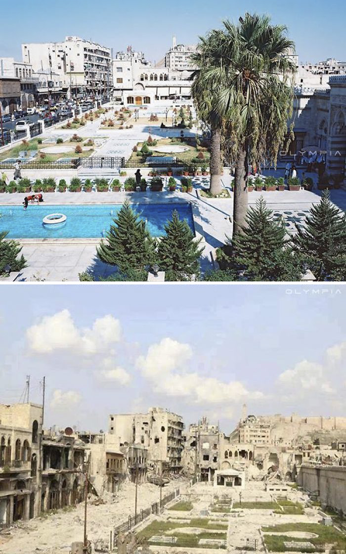 Aleppo, then and now.